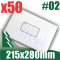 50 x #2 Bubble Mailers 215 x 280mm