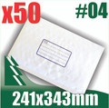 50 x #4 Bubble Mailers 241 x 343mm