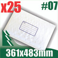 25 x #7 Bubble Mailers 361 x 483mm