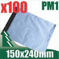 100 x #1 Poly Mailers 150 x 240 mm Courier Bag