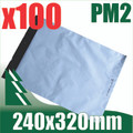100 x #2 Poly Mailers 240 x 320 mm Courier Bag