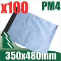 100 x #4 Poly Mailers 350 x 480 mm Courier Bag