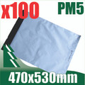 100 x #5 Poly Mailers 470 x 530 mm Courier Bag