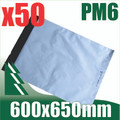 50 x #6 Poly Mailers 600 x 650 mm Courier Bag