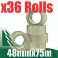 36 x Rolls Clear Packing Tape 48mm x 75m