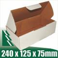 20 x White Cardboard Boxes Fits 500g Australia Post Satchells