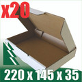 20 x VCB White Cardboard Boxes 220 x 145 x 35mm