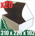 20 x BX2 White Cardboard Boxes 310 x 225 x 102mm