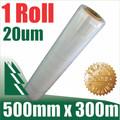 1 Roll 500mm x 300mm 20um Clear Film