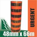 6 x Rolls Urgent Tape Fluoro Orange 48mm x 66m