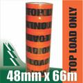 6 x Rolls Top Load OnlyTape Fluoro Orange 48mm x 66m