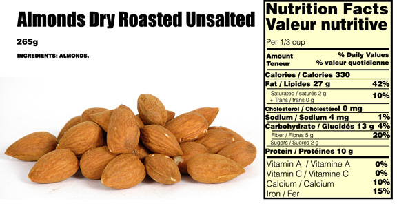 almonds-nutritional