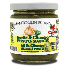 Use our pesto sauce with pasta or to make garlic bread. A spicy sauce.