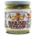 Black Olive Garlic Spread Use anywhere you use butter or margarine. Great for adding to pasta or making garlic bread. Our signature garlic spread with black olives blended in.