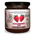 The fruit tastes so fresh in these no sugar added jams. Chunks of whole strawberries makes this thick jam a sure winner.