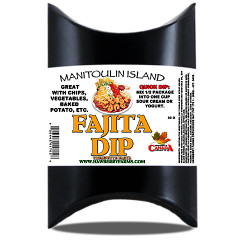 Colourful packages of dip mixes. Great for gift baskets, stockings or just to have a variety of mixes around the home.