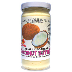 Coconuts in all their glory. This is one that will leave craving more. Use in cooking or on toast, muffins, sandwiches. A topping on ice cream, yogurt, protein shakes.