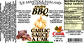 Smokey Chipotle BBQ Garlic Sauce!