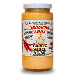 Sriracha chili garlic sauce! This is stuff you will put on everything! So good!