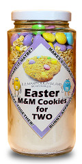 With Easter coming up, these easy to use cookie mixes are great fun to bake together! Makes 8 delicious M&M cookies