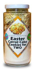 With Easter coming up, these easy to use cookie mixes are great fun to bake together! Makes 8 delicious carrot cake cookies