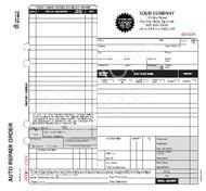 "AROCC-377-4   Automotive Repair work Order - 4 Part Carbonless ( 8.5"" x 8.5"" ) Valid for California"