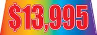 $13995 Rainbow Windshield Banner