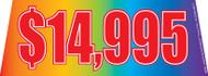$14995 Rainbow Windshield Banner