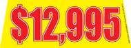 $12995 Yellow Windshield Banner