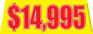 $14995 Yellow Windshield Banner