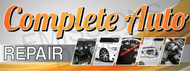 Complete Auto Repair | Vinyl Banner | Orange with Small Images