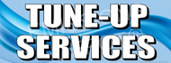 Tune-Up Services   Blue   Vinyl Banner