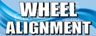 Wheel Alignment   Blue   Vinyl Banner