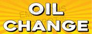 Oil Change   Yellow Orange Sun Burst   Vinyl Banner