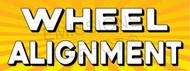 Wheel Alignment   Yellow Orange Sunburst   Vinyl Banner