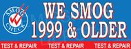 We Smog 1999 & Older   Smog Logo on Left   Test and Repair   Vinyl Banner
