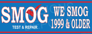 We Smog 1999 & Older   Smog Word Big   Test and Repair   Vinyl Banner