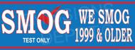 We Smog 1999 & Older   Smog Word Big   Test Only   Vinyl Banner