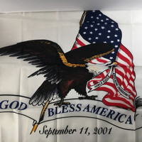 God Bless America: 9-11 Memorial flag Made in U.S.A.