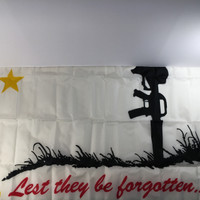 Flag for the Fallen: Lest they be forgotten. Made in U.S.A.