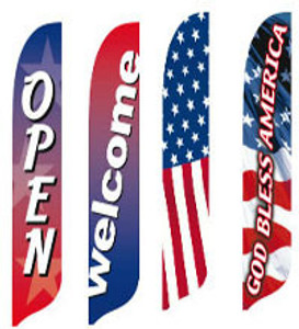 Patriotic Blade Flags