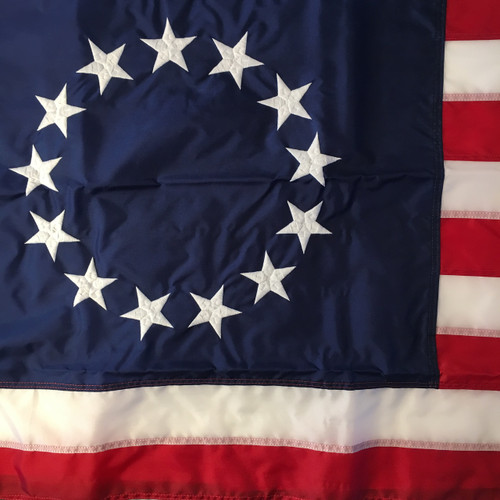 Betsy Ross 13 Star U.S. Flag. Made in U.S.A.