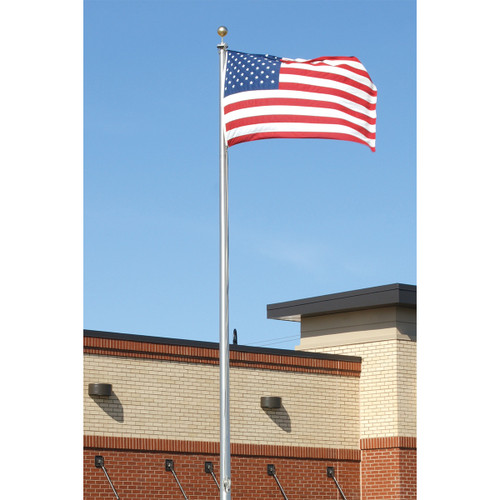 Commercial Grade External Halyard Flag Pole. Made in USA