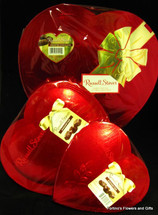 Heart shaped box of candy