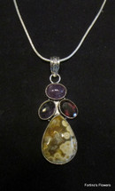 Jasper and Amethyst Necklace
