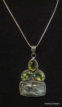 Peridot Citrine and Jasper Necklace