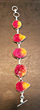 Rough Rainbow Druzy Bracelet--Sterling Silver