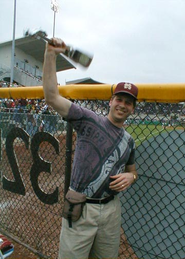 Ringing my cowbell in Left Field Lounge