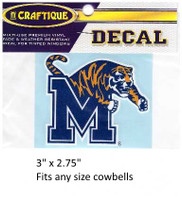 Memphis Tigers Decal