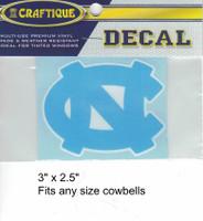 """N. Carolina Tar Heels Decal (3"""")"""